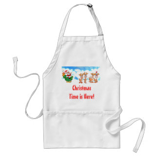 Santa and his Reindeer? Christmas Chefs Apron