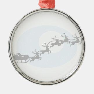 Santa and His Reindeer Ornaments
