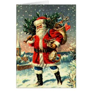 Santa And His Wares Card