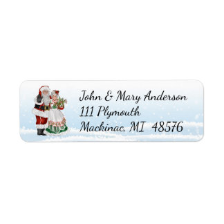 Santa and Mrs. Claus Address Label