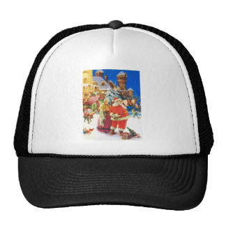 Santa and Mrs Claus, Christmas Eve,The North Pole Cap