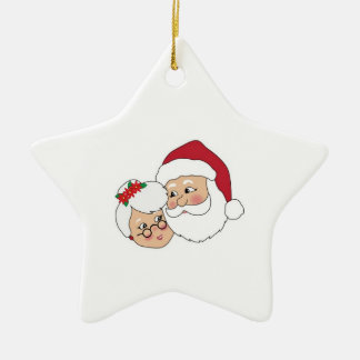 Santa and Mrs Claus Christmas Ornament
