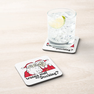 Santa and Mrs Claus Drink Coasters
