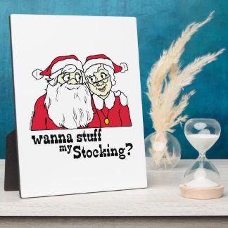 Santa and Mrs Claus Plaque