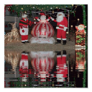 Santa and Mrs Claus Poster