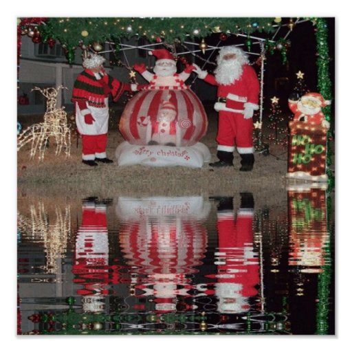 Santa and Mrs Claus Poster
