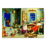 Santa and Mrs. Claus Relax Christmas Night Greeting Card