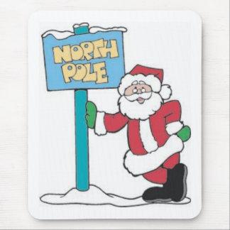 Santa and North Pole Sign Mouse Pad