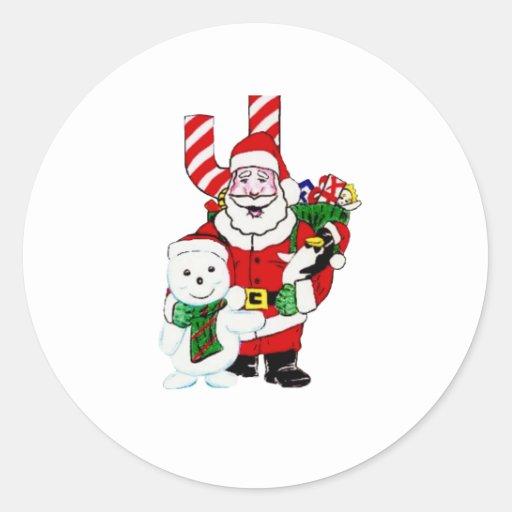 Santa and Pals Sticker