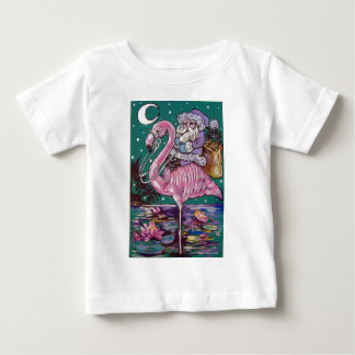 SANTA AND PINK FLAMINGO BABY T-Shirt