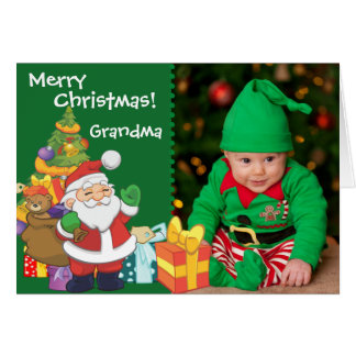 Santa and Presents Greeting Card