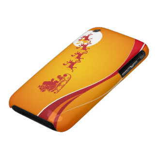 Santa and Reindeer Abstract Silhouette iPhone 3 Case-Mate Case