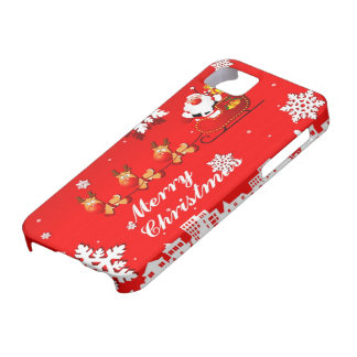 Santa and Reindeer Christmas iPhone 5 Cover
