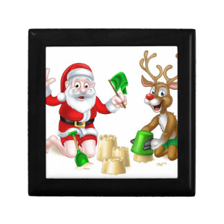 Santa and Reindeer Christmas Summer Beach Gift Box