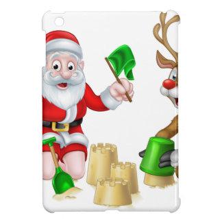 Santa and Reindeer Christmas Summer Beach iPad Mini Covers