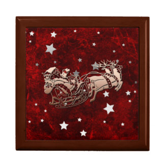 Santa and Reindeer Gift Box