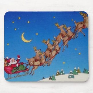 Santa and Reindeer Mousepad