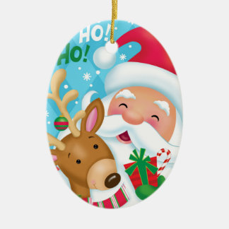 Santa and Reindeer Ornament