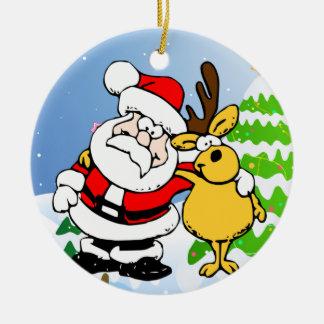 Santa and Reindeer Pal Ornament