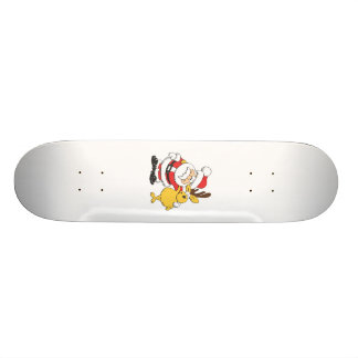 Santa and Reindeer Skate Board