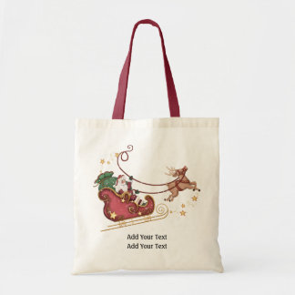 Santa and Reindeer Tote - SRF
