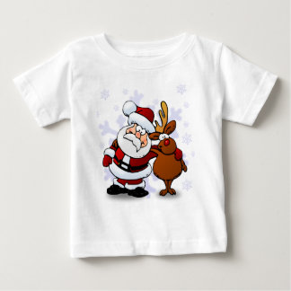 Santa And Reindeers Baby T-Shirt