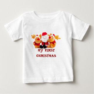 Santa And Reindeers Baby T-Shirt
