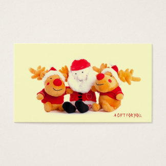 Santa And Reindeers Gift cards
