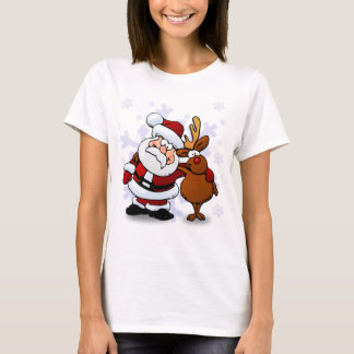 Santa And Reindeers T-Shirt