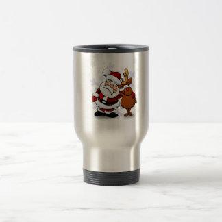 Santa And Reindeers Travel Mug