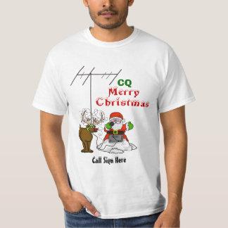 Santa and Rudolph CQ Christmas Tshirt