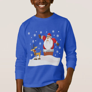 Santa and Rudolph on the Roof Ugly Sweater
