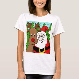 Santa and Rudolph selfie T-Shirt