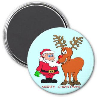 Santa and Rudolph T-Shirts & Gifts Fridge Magnet