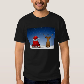 Santa and Rudolph Tees