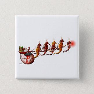 Santa and Seahorse Sleigh Button