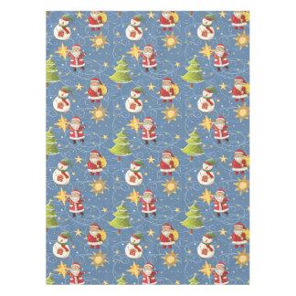 Santa And Stars Tablecloth