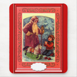 Santa and the child mouse pad