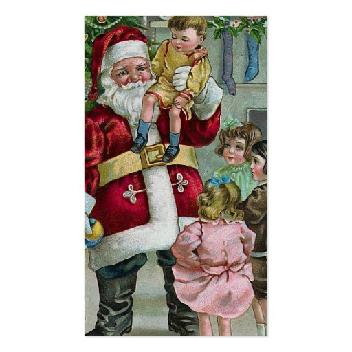 """""""Santa and the Children"""" Business Card Template"""