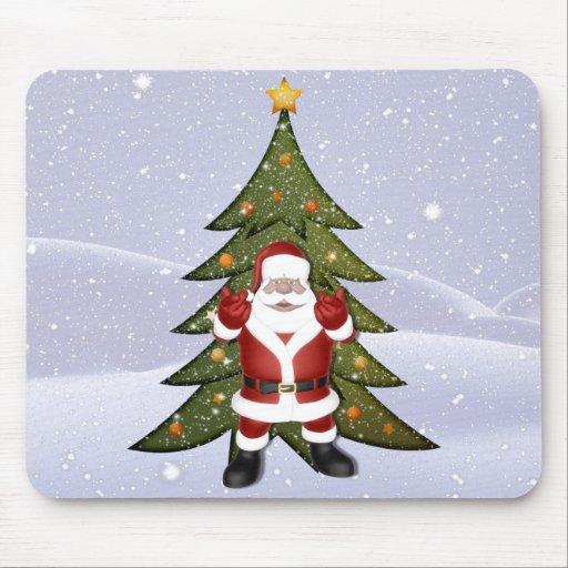 Santa and the Christmas Tree Mouse Pad