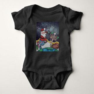 Santa and the Milky Way Baby Bodysuit