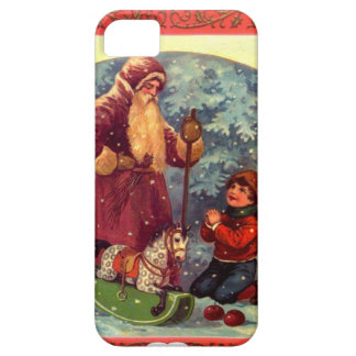 Santa and the rocking horse barely there iPhone 5 case
