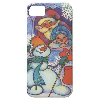 Santa and the snowman case for the iPhone 5