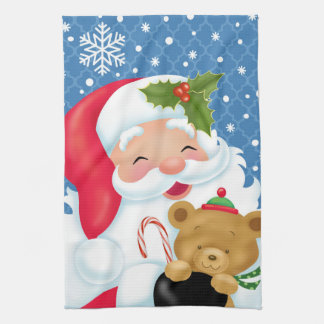 Santa and the Teddybear Kitchen Towel