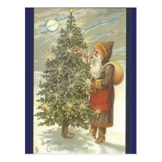 Santa and TreeMan Postcard