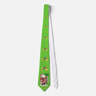 Santa Animals Holly Bow Merry Christmas Tie