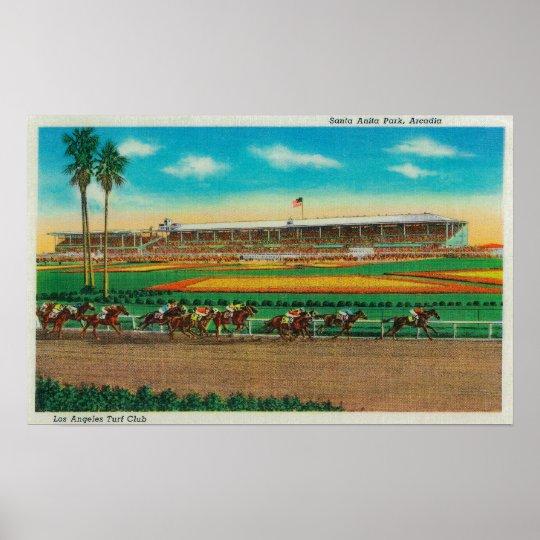 Santa Anita Park Horse RacesArcadia, CA Poster