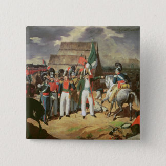 Santa Anna defies the Spanish troops 15 Cm Square Badge