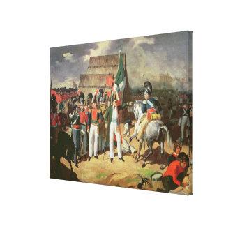 Santa Anna defies the Spanish troops Canvas Print