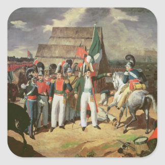 Santa Anna defies the Spanish troops Sticker